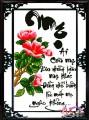 TP021 - Tranh thêu thư pháp chữ mẹ