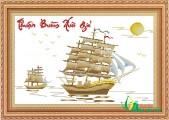 TP085 - Tranh thêu Thuận Buồm Xuôi Gió