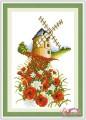 HQ017 - Hoa và cối xay gió