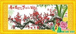 HQ035 - An Khang Thịnh Vượng (Cành đào đỏ)
