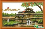 Tranh thêu phong cảnh PC022 - Ngọ Môn (Hoàng Thành Huế)