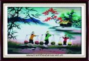 Tranh thêu Hồn quê Việt PC002