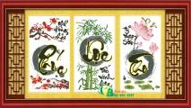 TP056 - Tranh Phúc Lộc Thọ (ba bức liền)