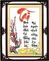 TP077 - Thư pháp chữ Tài (mua bán...)
