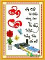 TP018-1 Tranh thêu ƠN CÔ (Chữ đỏ)