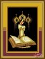 Kinh thánh và ngọn nến (tranh 3D)
