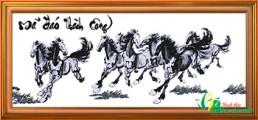 DV001 Tranh thêu Bát ngựa - Mã Đáo Thành Công