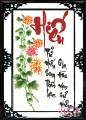 TP043 - Chữ Hiếu (Hoa Cúc)