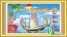 Tranh thư pháp 5D - GIA HÒA VẠN SỰ HƯNG
