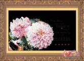 HQ011 - Hoa Thược dược hồng (tranh 3D)