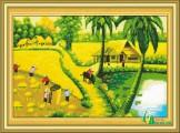 PC020 - Tranh Thêu Mùa Gặt