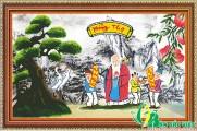 NV011 - Tranh đính đá Mừng Thọ Cụ Ông