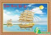 TP085 - Tranh đá Thuận Buồm Xuôi Gió