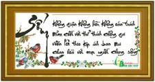 TP038 - Chữ Sống (4 câu thơ thư pháp)