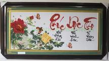 Tranh thêu bộ chữ Phúc - Lộc - Thọ (1 bức liền)